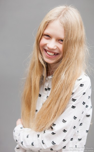 a 12-year-old natural blond Catholic girl photographed by Serhiy Lvivsky in November 2015, picture 3