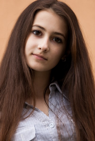 a 13-year-old brunette girl photographed in May 2015, picture 7