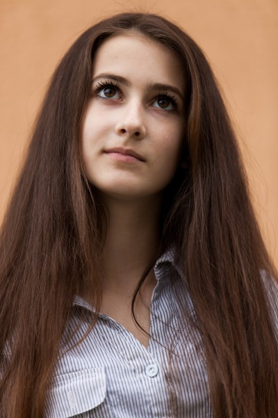 a 13-year-old brunette girl photographed in May 2015, picture 9