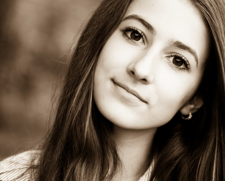 a 13-year-old brunette girl photographed in May 2015, picture 14