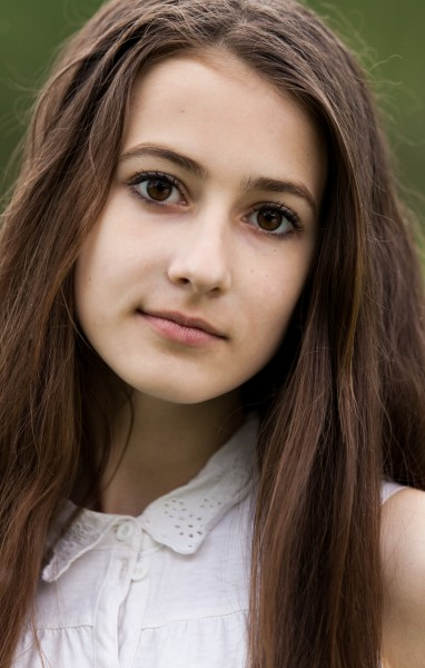 a 13-year-old brunette girl photographed in May 2015, picture 15