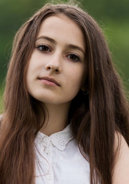 a 13-year-old brunette girl photographed in May 2015, picture 19