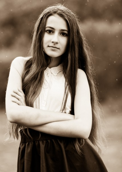 a 13-year-old brunette girl photographed in May 2015, picture 22