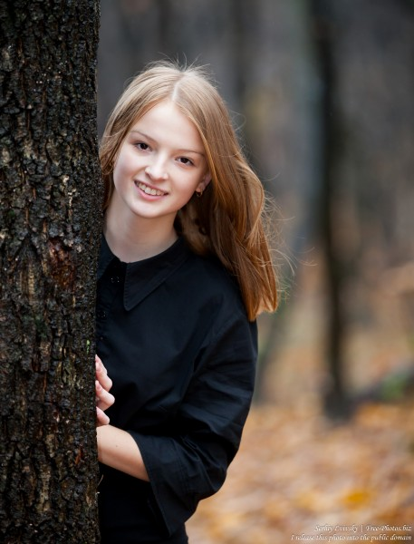 a 13-year-old Catholic girl photographed by Serhiy Lvivsky in November 2015, picture 1