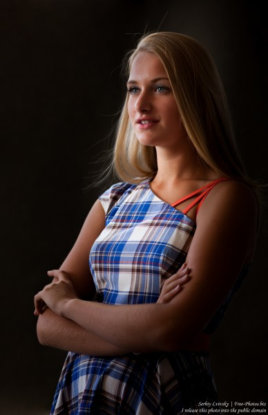 a 14-year-old natural blond girl photographed by Serhiy Lvivsky in July 2016, picture 5