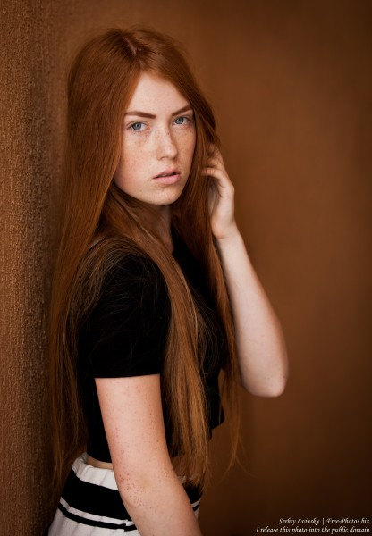 a 15-year-old red-haired Catholic girl photographed by Serhiy Lvivsky in August 2015, picture 17