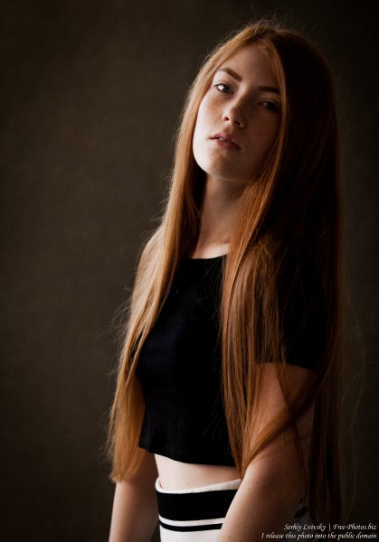 a 15-year-old red-haired Catholic girl photographed by Serhiy Lvivsky in August 2015, picture 20