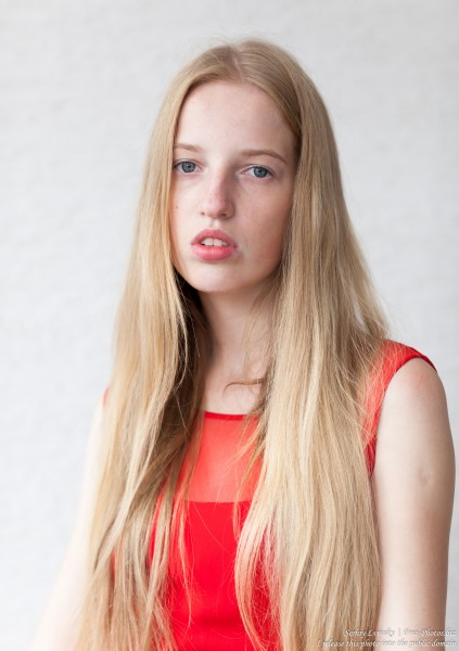 a 17-year-old Catholic natural blond girl photographed in September 2016 by Serhiy Lvivsky, picture 15