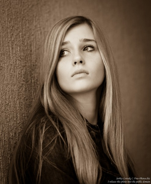 a 17-year-old natural blond girl with blue eyes photographed in October 2015 by Serhiy Lvivsky, picture 2