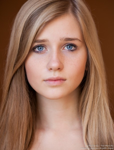 a 17-year-old natural blond girl with blue eyes photographed in October 2015 by Serhiy Lvivsky, picture 4
