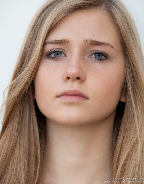 a 17-year-old natural blond girl with blue eyes photographed in October 2015 by Serhiy Lvivsky, picture 10