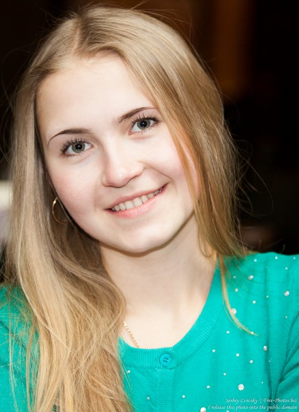 a beautiful 19-year-old Catholic blond girl photographed in February 2015, picture 11