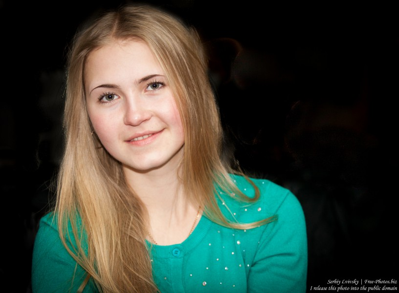 a beautiful 19-year-old Catholic blond girl photographed in February 2015, picture 15