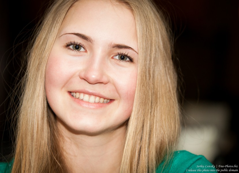 a beautiful 19-year-old Catholic blond girl photographed in February 2015, picture 17