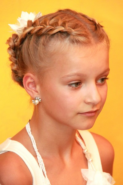 a beautiful blond child girl