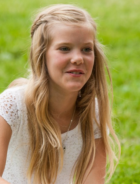 a blond beautiful girl photographed in Sigtuna, Sweden in June 2014, picture 6 out 20