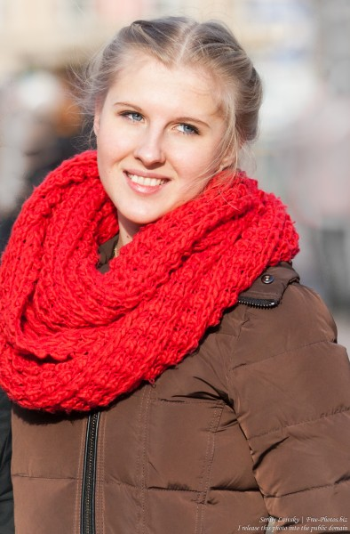 a beautiful blond girl photographed in January 2015, picture 5