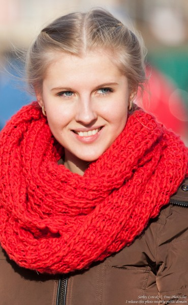 a beautiful blond girl photographed in January 2015, picture 6