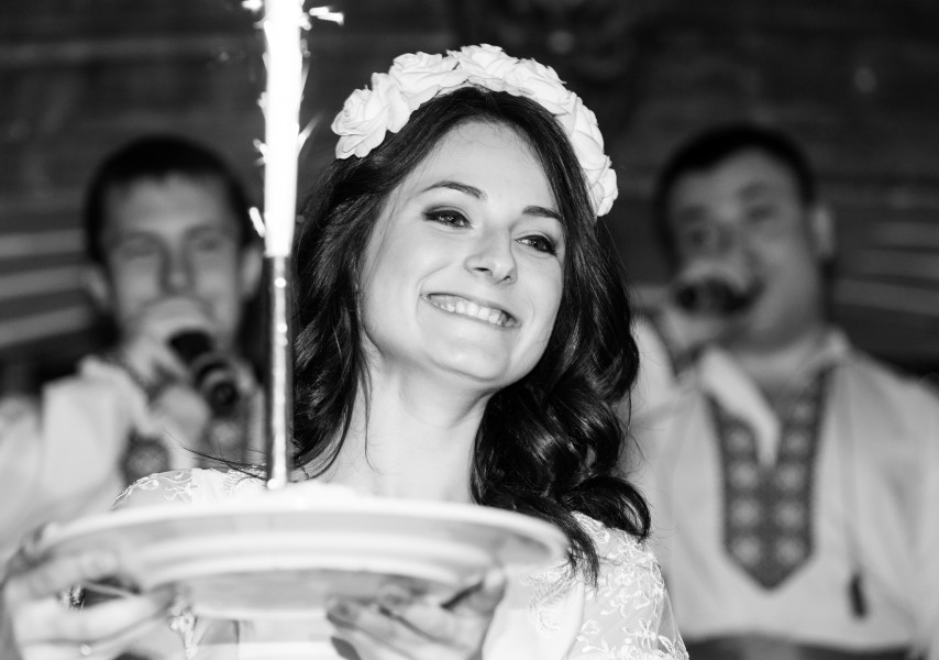 a beautiful brunette girl having her hen party in April 2014, photograph 18/20, black and white