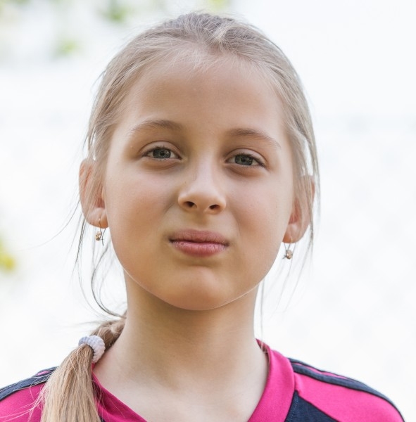 a blond Catholic cutie photographed in May 2014, portrait 2/10