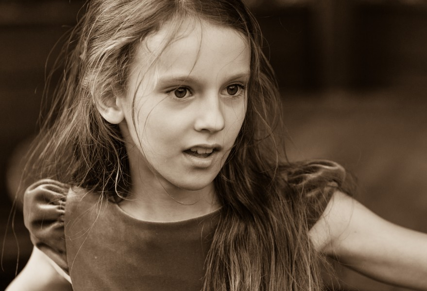 a Christian girl photographed in September 2014, picture 27, black and white