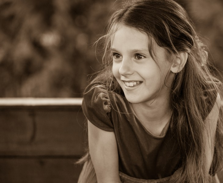 a Christian girl photographed in September 2014, picture 32, black and white
