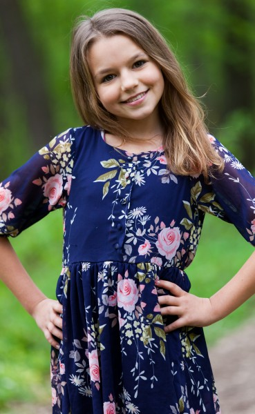 a cute 12-year-old girl photographed in May 2015, picture 9