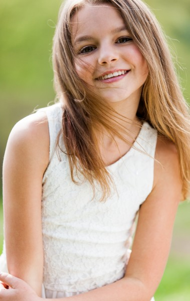 a cute 12-year-old girl photographed in May 2015, picture 13