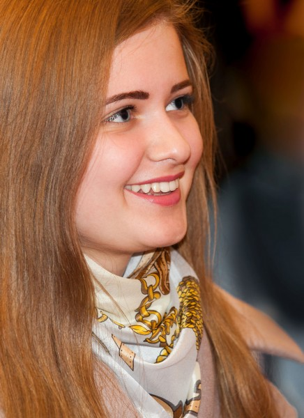 a cute Catholic girl photographed in April 2015, portrait 1 out of 2