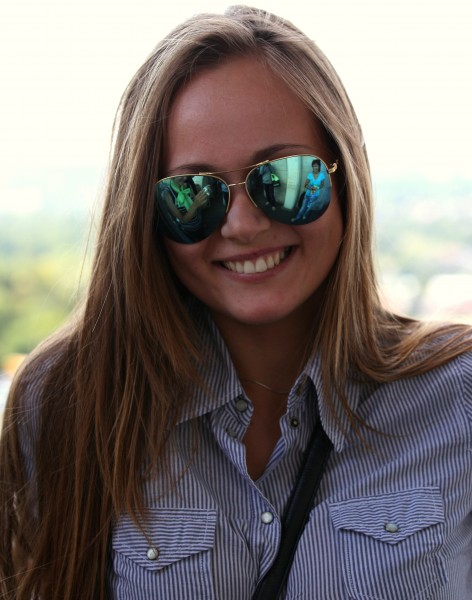 an attractive girl wearing sunglasses in August 2013, picture 2