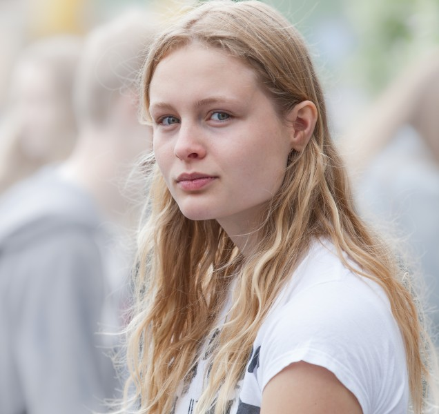 a creation of God - a cute fair-haired girl in Copenhagen, Denmark, in June 2014, picture 37