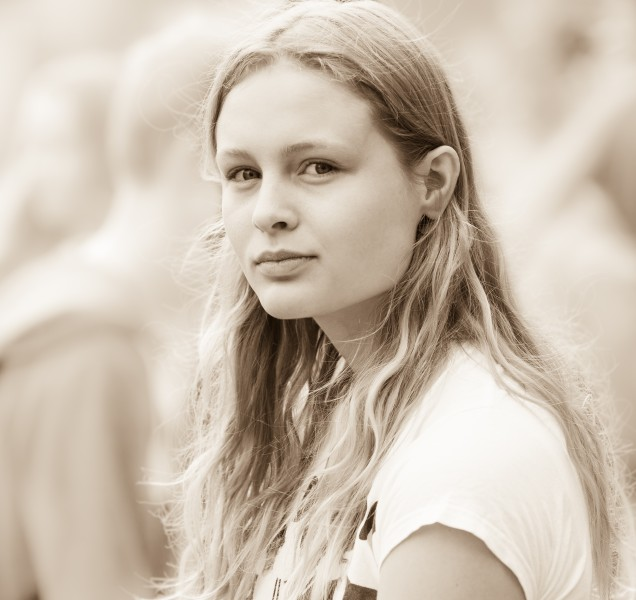 a creation of God - a cute fair-haired girl in Copenhagen, Denmark, in June 2014, picture 40