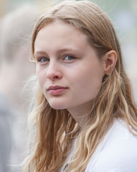 a creation of God - a cute fair-haired girl in Copenhagen, Denmark, in June 2014, picture 41