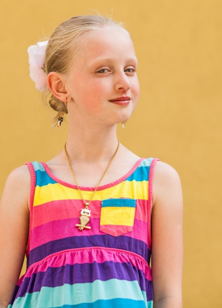 a cute young blond Catholic girl photographed in May 2014, portrait 10/12