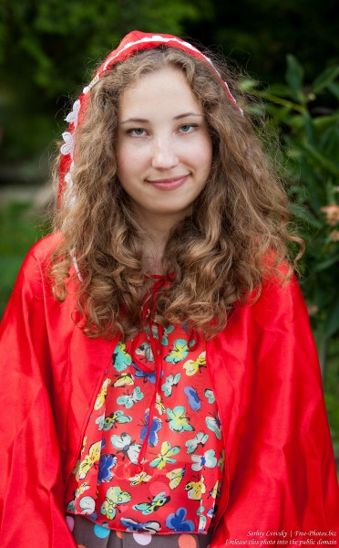 a girl from a Catholic camp photographed in July 2015