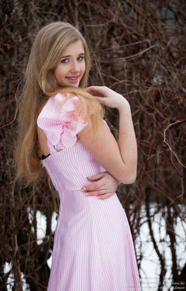 a natural blond 17-year-old girl photographed by Serhiy Lvivsky in January 2016, picture 12