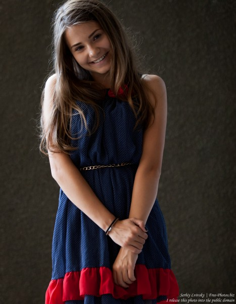 a 14-year-old brunette girl photographed in July 2015, picture 5