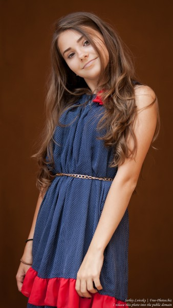 a 14-year-old brunette girl photographed in July 2015, picture 11