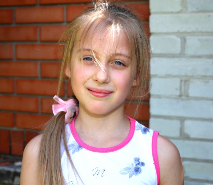 a really pretty young blond Catholic girl photographed in May 2013, portrait 2/7