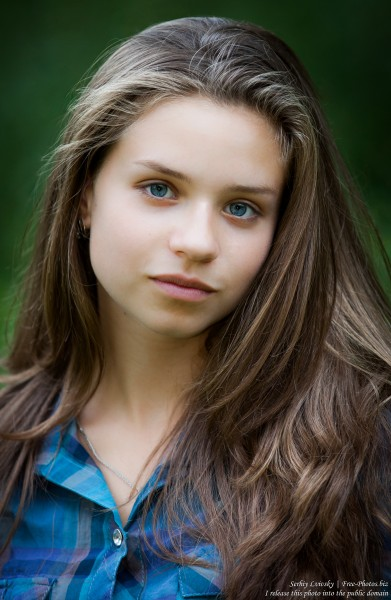 a pretty 13-year-old Catholic girl photographed in August 2015 by Serhiy Lvivsky, picture 7