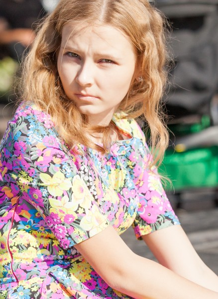 a pretty blond girl photographed in September 2014, picture 15