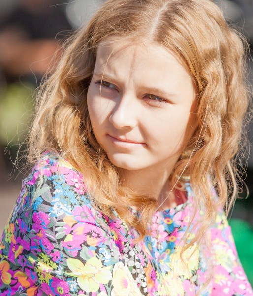 a pretty blond girl photographed in September 2014, picture 16
