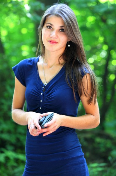 a stunningly beautiful brunette Catholic girl photographed in July 2013, portrait 10/15