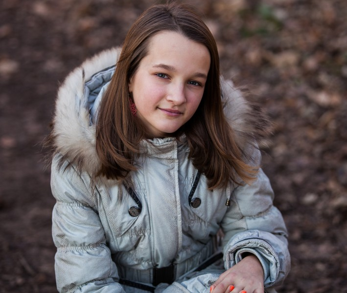 a stunningly beautiful young Roman-Catholic girl photographed in December 2013, picture 2