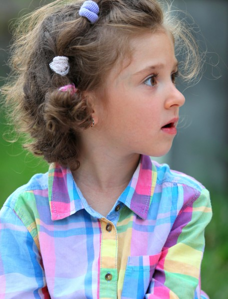 an amazing sweet child girl in a Catholic camp, photographed in July 2013, portrait 11/14