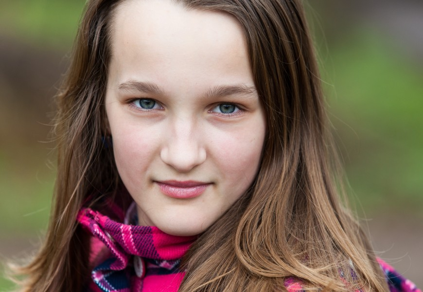 an amazingly beautiful Catholic 12-year-old girl photographed in April 2014, picture 18