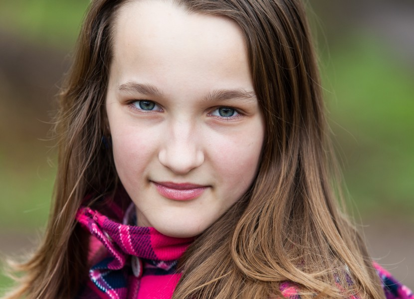 an amazingly beautiful Catholic 12-year-old girl photographed in April 2014, picture 19