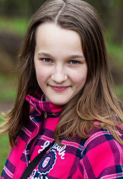 an amazingly beautiful Catholic 12-year-old girl photographed in April 2014, picture 21