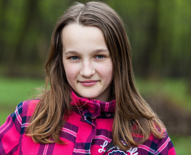 an amazingly beautiful Catholic 12-year-old girl photographed in April 2014, picture 23