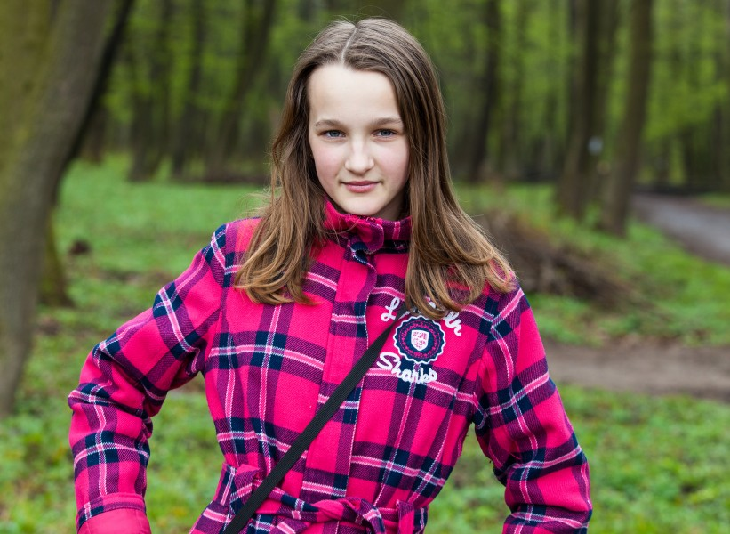 an amazingly beautiful Catholic 12-year-old girl photographed in April 2014, picture 24